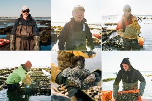 Photos of each Warren Cove oyster farmer.